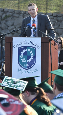 The 2016 Essex Tech Commencement speaker is Chris Grant. Grant is an alum of the school and is the owner of Grant Farm in Essex MA.<br /> <br /> Photo by joebrownphotos.com