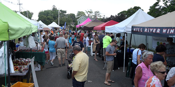 DAVID LE/Staff photo. Danvers Farmers Market is open every Wednesday from 4pm until 7pm. 6/15/16.