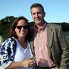 DAVID LE/Staff photo. Jenn Johnson, of Salt Water Yoga Studio Newburyport, and Stephen Oates, of Bean Group, at a multi-chamber after hours networking event held at the recently renovated Ferncroft Country Club in Middleton on Thursday afternoon. 6/30/16.