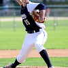 KEN YUSZKUS/Staff photo.     Danvers' pitcher Andrew Olszak throws from the pitcher's mound during the Belmont vs Danvers Division 2 North quarterfinal baseball playoff game.     06/06/16