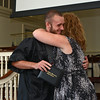 RYAN HUTTON/ Staff photo<br /> Northshore Recovery High School graduate Shawm Morse hugs school director Michelle Lipinski after receiving his diploma at the school's commencement ceremony at the Second Congregational Church in Beverly on Wednesday night.