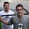 DAVID LE/Staff photo. Twins Matt, left, and Kyle Koopman, are entering their senior seasons at Berkshire School and have both committed to play Division I hockey at Providence College. Matt, a center-man, will play for the Friars right out of Berkshire, while Matt, a defenseman, will do a year of juniors before joining his brother in Rhode Island. 6/8/16.