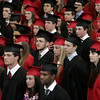 KEN YUSZKUS/Staff photo.   The sea of graduates at the Marblehead High School graduation.     06/12/16