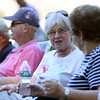 DAVID LE/Staff photo. Phyllis Morin, of Danvers, chats with her friend Dot Chambers, right, also of Danvers, at the annual History, Harmony, & Hot Dogs night as part of the Danvers Family Festival on Monday evening. 6/20/16.
