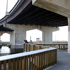 DAVID LE/Staff photo. The new Harborwalk in Beverly sits at the base of the Beverly-Salem Bridge. 6/20/16.