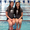 DAVID LE/Staff photo. Recently Beverly High School graduates Sarah Welch, left, and Kaitlin Harty, right, will be swimming in the Olympic trials next week. University of Texas at Austin bound Harty will swim in the 100 backstroke trials on Monday, June 27th, and both Harty and Brown University commit Welch will swim in the 200 backstroke trials on July 1st. 6/23/16.