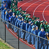 Soon to be graduates of Essex Tech march into the stadium along the track during Commencement 2016.<br /> <br /> Photo by joebrownphotos.com