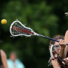 DAVID LE/Staff photo. Marblehead freshman Grace Arthur slings a backhanded shot that eludes Ipswich goalie Emiyl Martineau's stick, but goes just wide of the goal.  6/9/16.