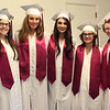 HADLEY GREEN/ Staff photo<br /> From left, Veronica Sanchez, Katherine Pasti, Rachele DiFava, Melody Costa, and Brooke Boucher pose before their graduation ceremony. This is the The Academy at Penguin Hall's first graduating class. 6/09/17