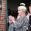 AMY SWEENEY/Staff photo. Camilee O'Keefe thanks the crowd the gathered for the dedication of the fire station for her late husband. The building that houses Salem Fire Engine 5 was dedicated to Joseph O'Keefe, a beloved city official who died in September 2015. He had a long and celebrated tenure on City Council. O'Keefe also served as state fire marshal from 1977 to 1992.