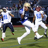 HADLEY GREEN/ Staff photo<br /> North's Teshaun Watson (22) of Haverhill scores a touchdown at the Agganis boys football all-star game at the Manning Field in Lynn. 6/28/17
