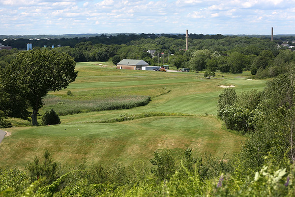 HADLEY GREEN/ Staff photo<br /> A scenic overlook at the The Meadow golf course in Peabody. 6/21/17