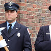 AMY SWEENEY/Staff photo.Andrew Francis, left, and Patrick Burke were part of the Salem Fire Department Honor Guard that attended the dedication of the Joseph A. O'Keefe, Sr. Fire Station. <br /> June 17, 2017
