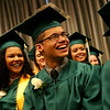 HADLEY GREEN/ Staff photo<br /> Students laugh during the Salem Academy Charter School graduation ceremony at the Salem Waterfront Hotel. 6/16/17