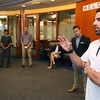 Red Sox infielder Deven Marrero visits East Boston Savings Bank