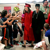 Marblehead High's graduating class on their Senior Walk