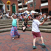Staff photo/ HADLEY GREEN<br /> Sydney McKeough of Lynnfield and Marshall Maloney of Salem dance to music at the Salem Arts Festival. <br /> <br /> 06/01/2018