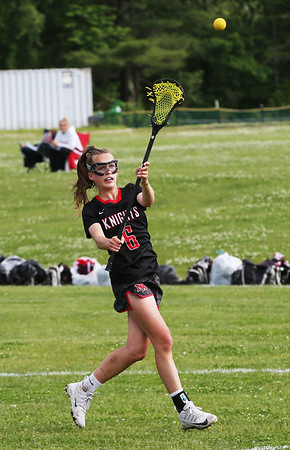 Staff photo/ HADLEY GREEN<br /> North Andover's Kelcey Dion (6) passes the ball.<br /> <br /> 06/05/2018
