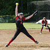 Staff photo/ HADLEY GREEN<br /> Marblehead's Charlotte Plakans (5) pitches against Melrose.<br /> <br /> 06/08/2018