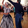 Staff photo/ HADLEY GREEN<br /> Pam and Frank Shorr of Swampscott spin on the dance floor at the Teen Town Reunion party at the Holy Ghost Society in Peabody.<br /> <br /> 06/15/2018