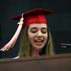 Staff photo/ HADLEY GREEN<br /> Valedictorian Olivia Blier addresses her class at the Salem High School graduation ceremony. <br /> <br /> 06/01/2018