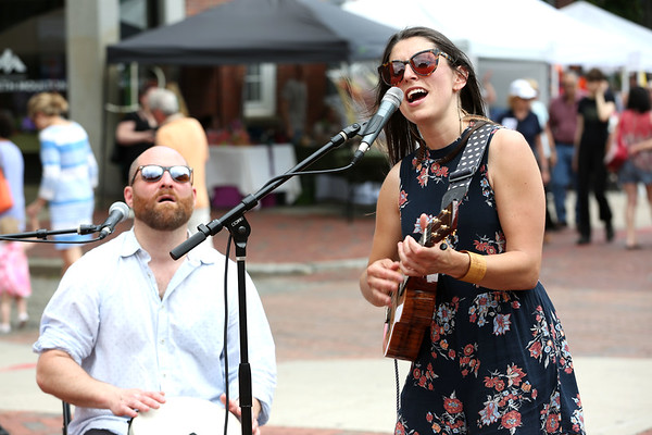 Staff photo/ HADLEY GREEN<br /> Sarah Blacker and the New England Groove Association performs at the Salem Arts Festival. <br /> <br /> 06/01/2018