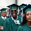 Staff photo/ HADLEY GREEN<br /> Students smile as they walk into the Read Gymnasium for the Salem Academy Charter School graduation ceremony.<br /> <br /> 06/15/2018