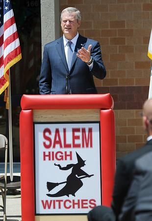 Gov. Baker visits Salem High