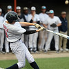 CARL RUSSO/Staff photo St. John's Brady O'Brien swings hard. Super 8 tourney final: St. John's Prep at North Andover. <br /> <br /> North Andover defeated St. John's Prep in the Super 8 tourney championship game Tuesday night. 6/18/2019