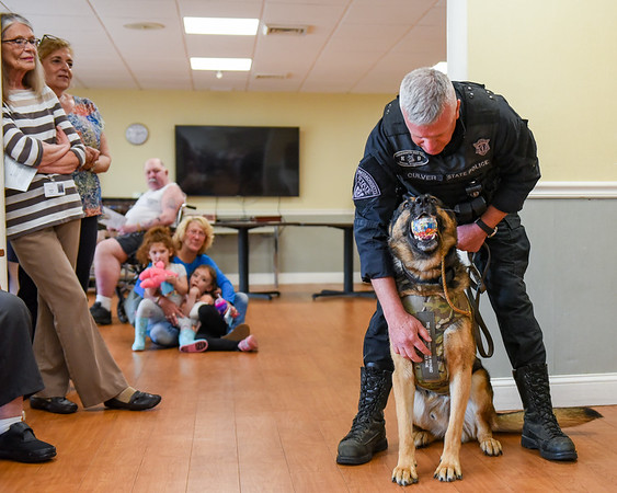 Essex Park residents donate K-9 dog vest