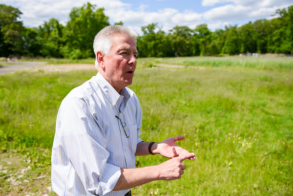 Robert Patton at Green Meadows Farm where he is hoping to build a medical marijuana greenhouse.