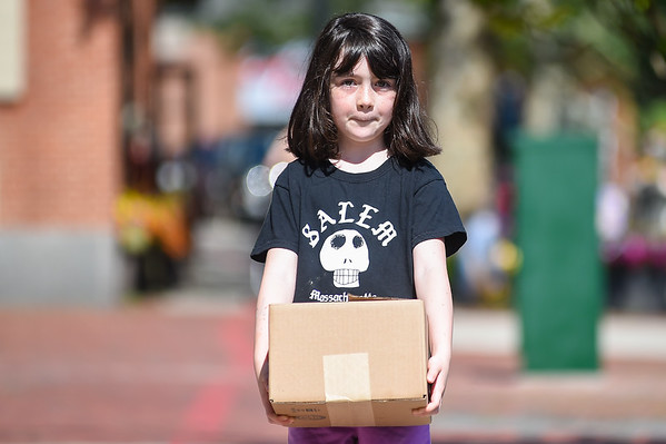 Georgia Wrenn delivering her merchandise