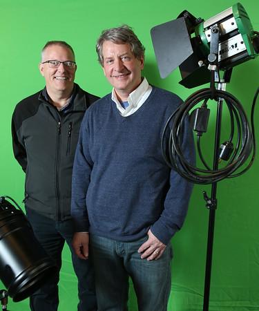 KEN YUSZKUS/Staff photo.  Rinus Oosthoek, left, and Paul Van Ness are promoting the Salem Film Fest.     03/02/15