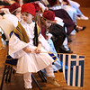 HADLEY GREEN/ Staff photo<br /> Alki Rozopoulos, a five-year-old student at St. Vasilios Greek School, holds the Greek flag during an event honoring Greek Independence Day at Peabody City Hall on Wednesday, March 22nd, 2017.