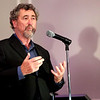 HADLEY GREEN/ Staff photo <br /> Frontline founder David Fanning speaks to guests at the Salem Film Fest opening gala after accepting his 2017 Salem Film Fest Storyteller Award. The event was held at the Hawthorne Hotel on Thursday evening.