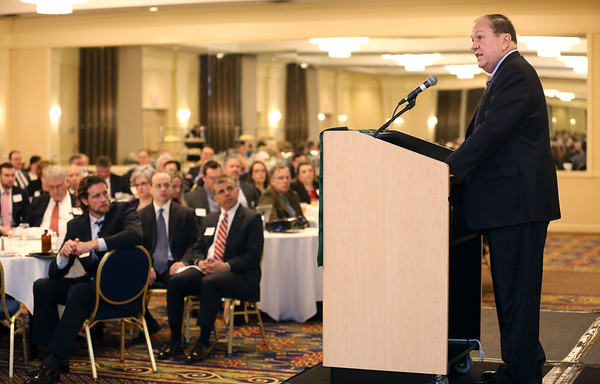 Richard C. Lord speaks to the North Shore Chamber