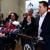 "HADLEY GREEN/ Staff photo <br /> Congressman Seth Moulton (D-MA) speaks at a press conference with Beverly's Pete Frates, an ALS patient and advocate, on Saturday, March 4th, 2017. The press conference focused on Moulton's ALS Disability Insurance Access Act. The new legislation aims to provide healthcare support to amyotrophic lateral sclerosis (ALS) patients quickly after they're diagnosed, bypassing the 5 month waiting period currently mandated by the Social Security Disability Insurance (SSDI). ""It's going to require people from both aisles to get it passed,"" said Moulton. ""This is incredibly important for patients and families across the United States."""