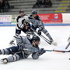 HADLEY GREEN/ Staff photo <br /> St. John's Tim Usalis (18) slides towards Belmont's goal during the St. John's Prep v. Belmont High Division 1 North MIAA playoff game at the Chelmsford Forum on Wednesday, March 1st, 2017.
