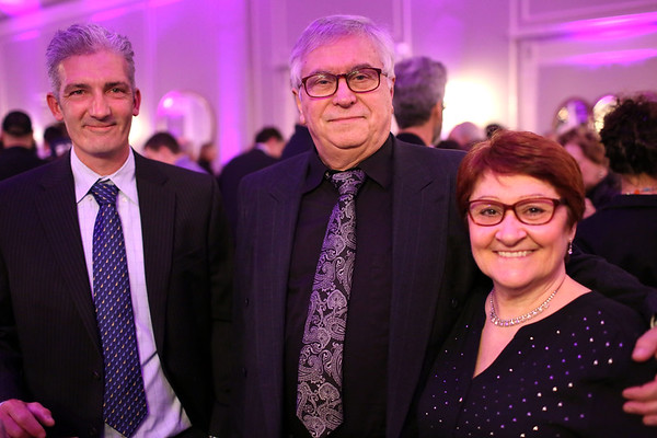 HADLEY GREEN/ Staff photo <br /> From left to right, Tommy Gagnon, Jack Walsh and Jean Walsh attend the Salem Film opening gala at the Hawthorne Hotel on Thursday evening.