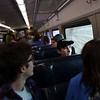 HADLEY GREEN/Staff photo<br /> Beverly High School students take the commuter rail into Boston for the March For Our Lives protest in Boston.<br /> 03/23/18