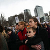 HADLEY GREEN/Staff photo<br /> People listen to speakers on Boston Common during the March For Our Lives Boston rally against gun violence.<br /> <br /> 03/23/18