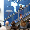 HADLEY GREEN/Staff photo<br /> Anna Michaud sings at the ribbon-cutting ceremony for the new expansion at the Sterling YMCA in Beverly. <br /> <br /> 03/27/18