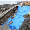 Seawall damaged
