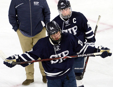 CARL RUSSO/staff photo St. John's Prep was defeated 1-0 by BC High in Super 8 hockey playoff action. 3/05/2018