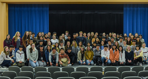 Japanese students at Beverly High School