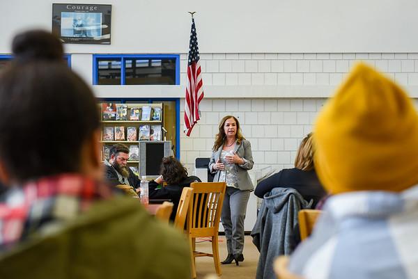 Parents Meeting at the Salem High School introducing new principal