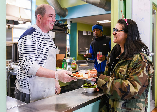 Preparing meals for homeless