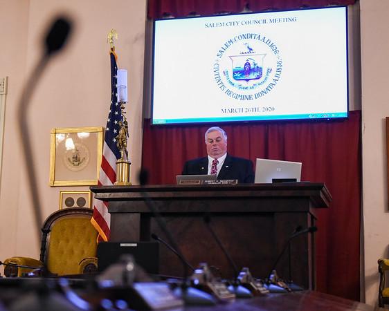 Salem City Council Meeting amid Coronavirus pandemic