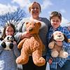 Cheryl Dolan and a teddy-bear hunting game