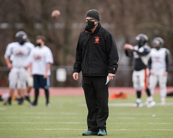 Photos from Beverly High varsity football practice